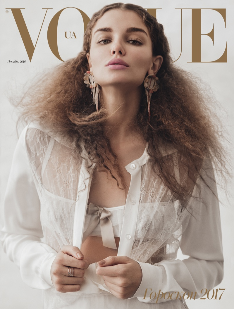 Daria Konovalova on Vogue Ukraine 2017 Horoscope Cover