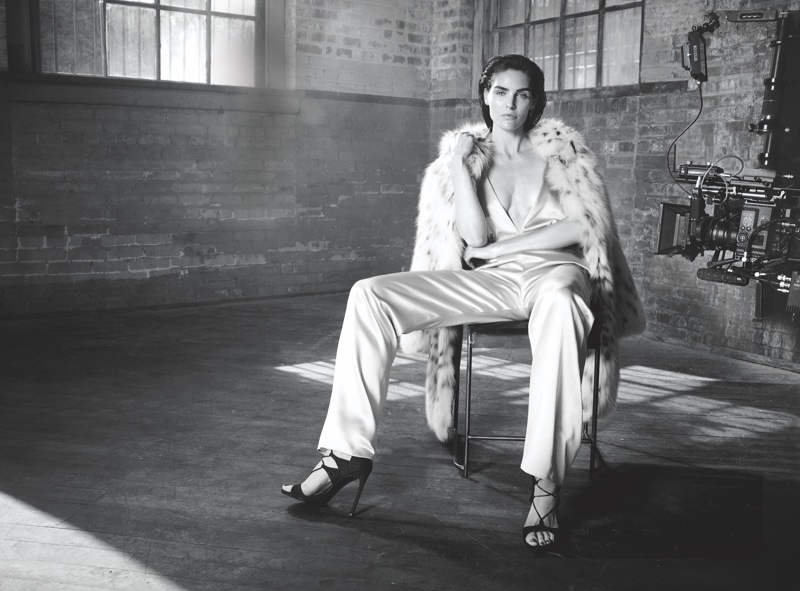 Hilary Rhoda Gets Luxe in Dennis Basso's Fall 2016 Campaign