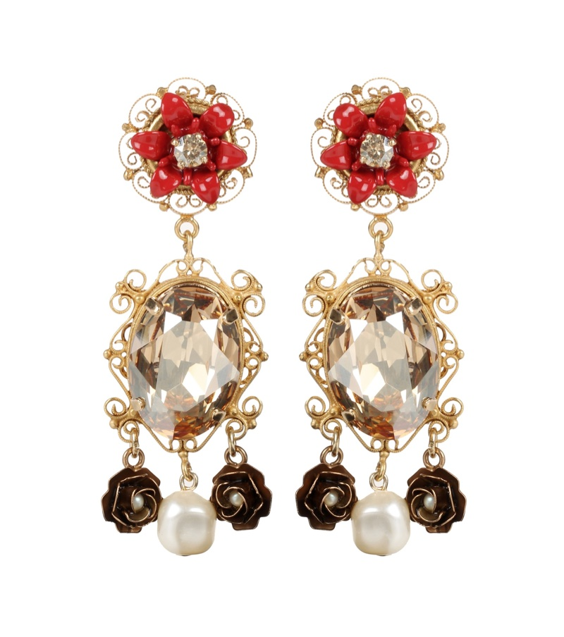 Dolce & Gabbana Embellished Clip On Earrings