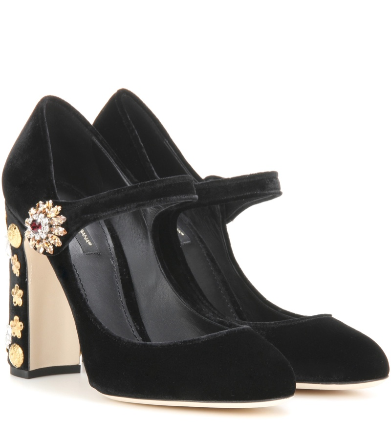 Dolce & Gabbana Embellished Pumps in Black