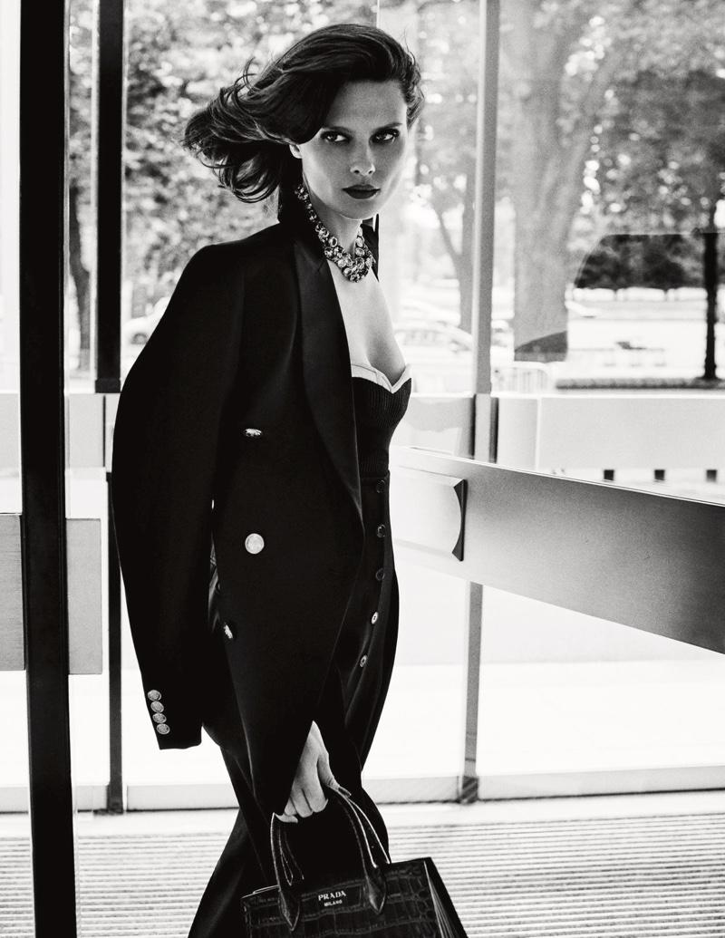 Elena Melnik Does Modern Day Power Dressing for ELLE Spain