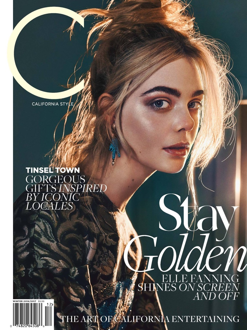 Elle Fanning on C Magazine Winter 2016.2017 Cover