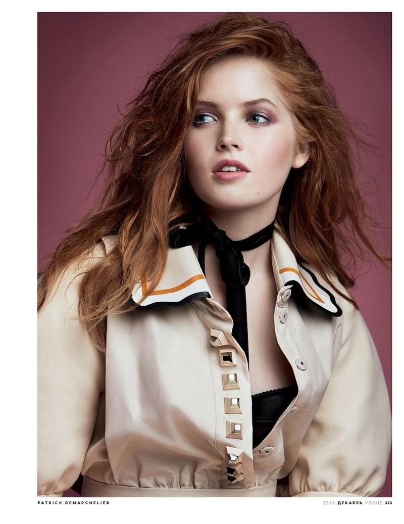 Actress Ellie Bamber gets her closeup in Fendi jumpsuit