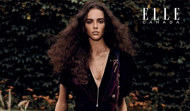 Emm Arruda Embraces Velvet Styles for ELLE Canada Editorial