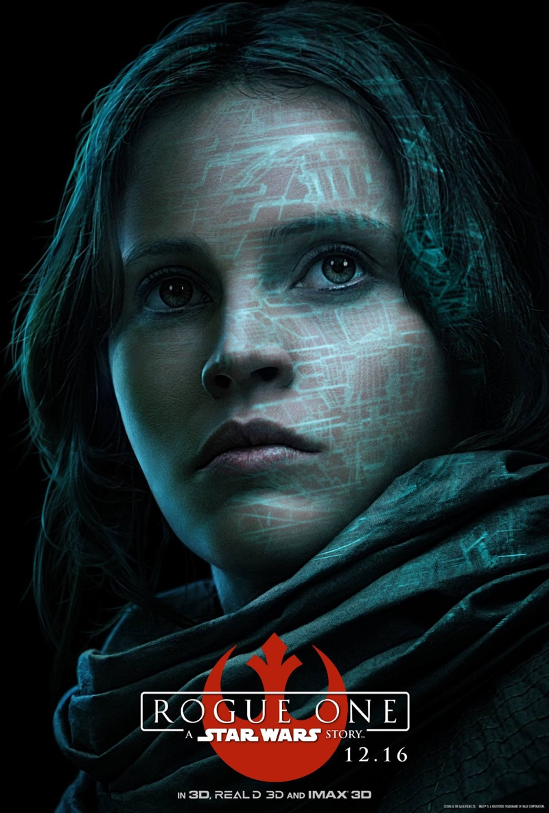 Felicity Jones on Rogue One: A Star Wars Story movie poster