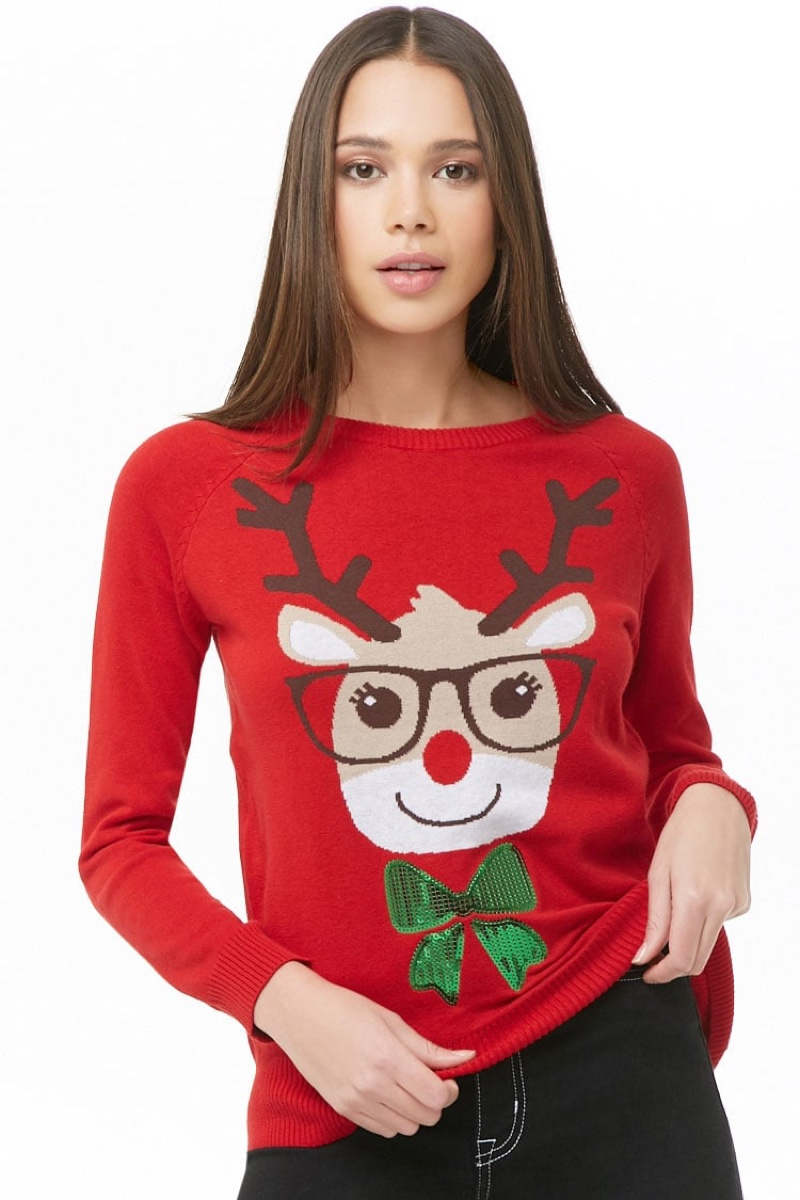 Forever 21 Reindeer Graphic Sweater $15