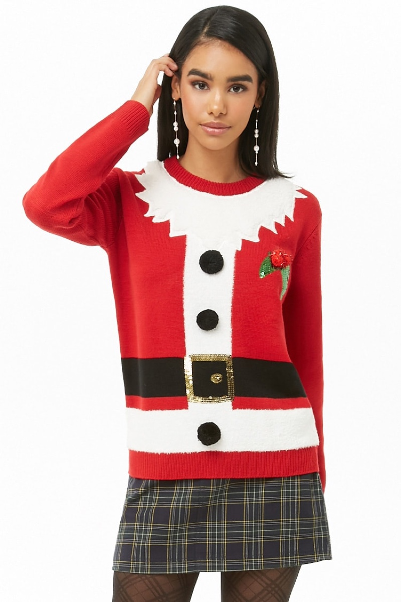 Forever 21 Santa Suit Graphic Sweater $24.90