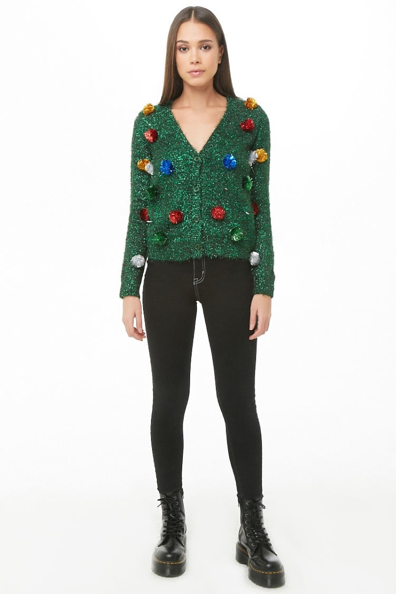 Forever 21 Tinsel Christmas Cardigan $29.90