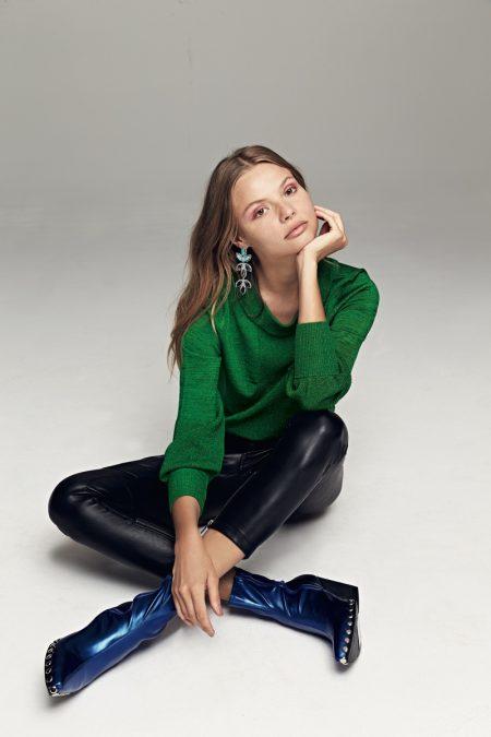 Magdalena Frackowiak Models Cozy Winter Styles for Free People