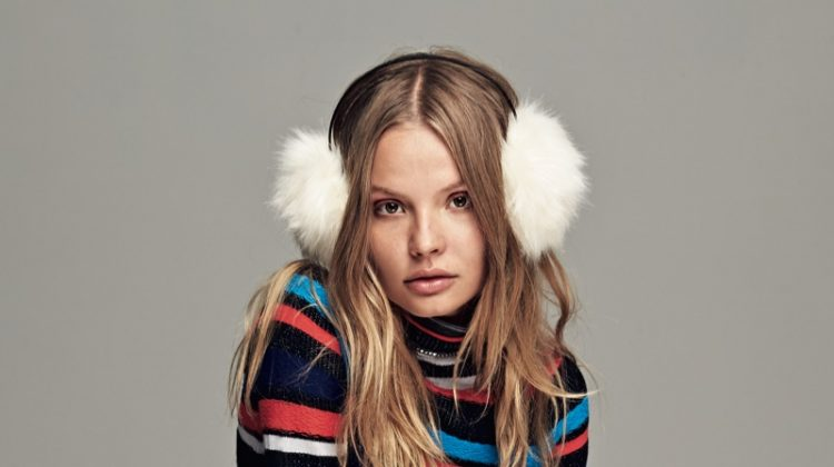 Magdalena Frackowiak Models Cozy Winter Styles for Free People