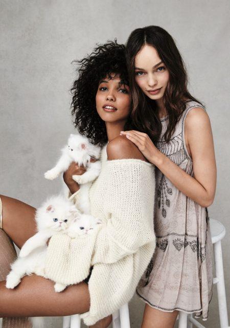 Cora Emmanuel & Luma Grothe Model Free People's Cute Loungewear