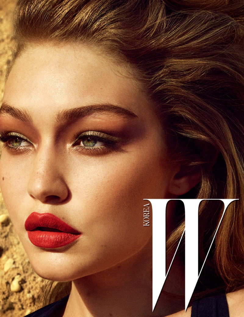 Serving siren appeal, Gigi Hadid wears red lipstick shade