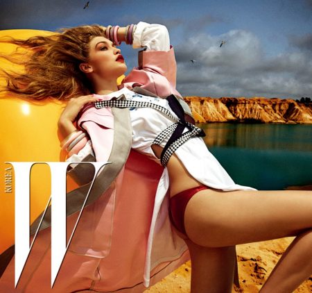 Gigi Hadid is a Blonde Bombshell for W Korea