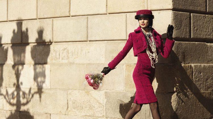 Hanaa Ben Abdesslem Models Rosy Looks for S Moda Editorial