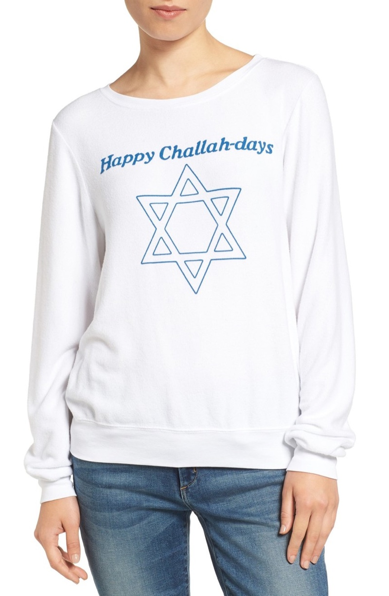 Wildfox Happy Challahdays Pullover Sweater