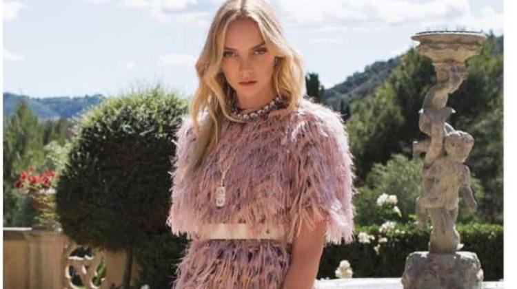 Heather Marks Models Elegant Styles for Harper's Bazaar Turkey
