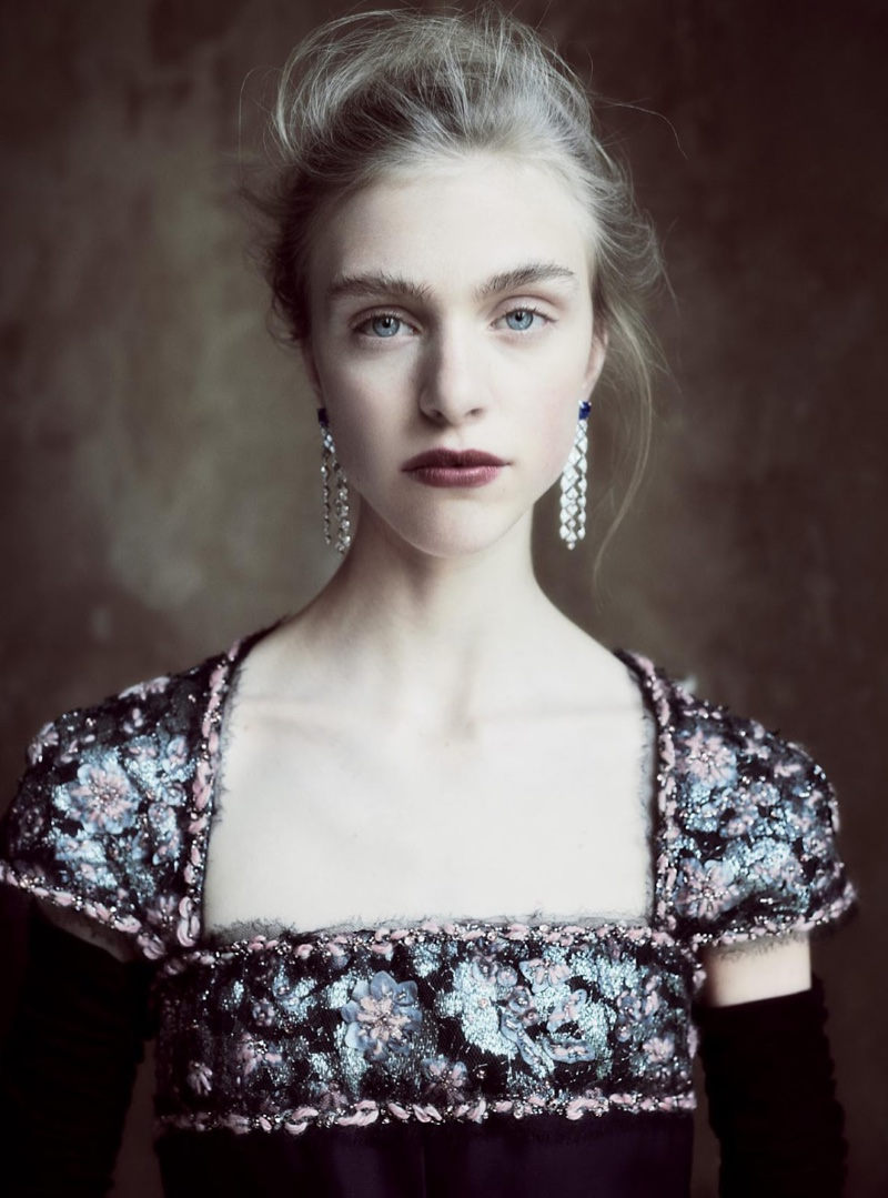 Hedvig Palm gets her closeup in Chanel Haute Couture dress