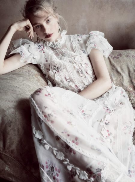 Hedvig Palm Stuns in Haute Couture Gowns for Harper's Bazaar UK