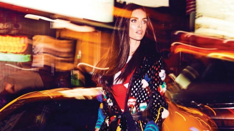 Hilary Rhoda Poses in Day to Night Styles for Cosmopolitan