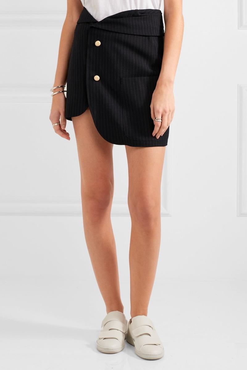 Jacquemus Pinstriped Wool Mini Skirt