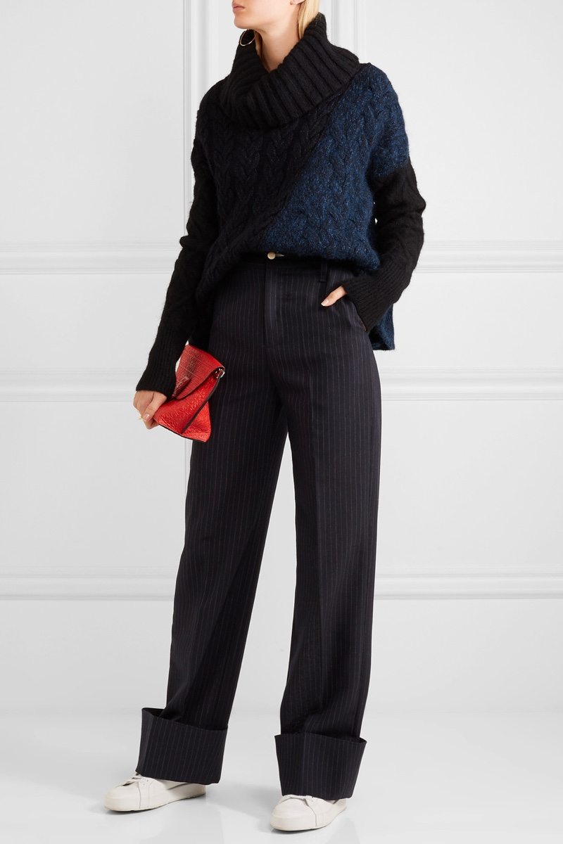 Jacquemus Pinstriped Wool Wide-Leg Pants