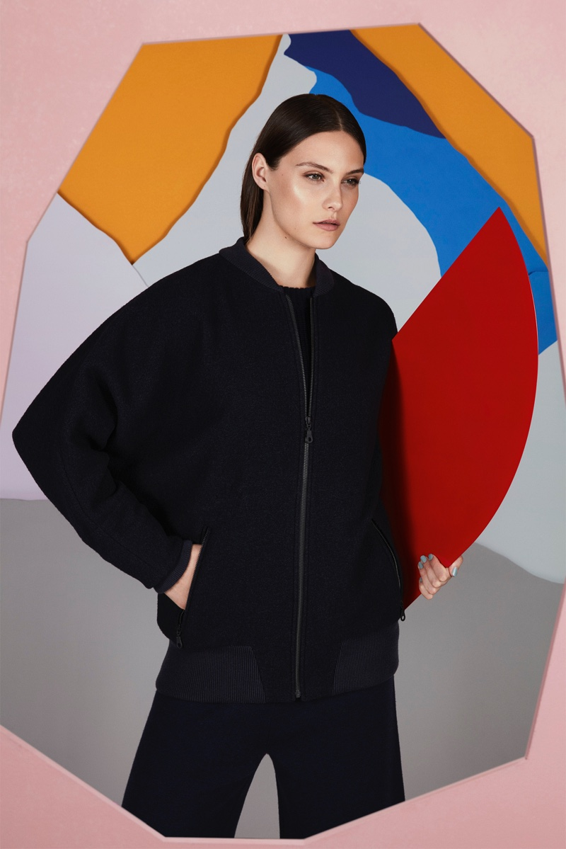 Inspired by the 1960's, Jaeger's Apres Ski collection features bold silhouettes