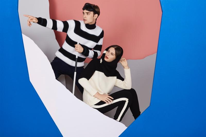 For women and men, Jaeger's Après Ski features playful prints