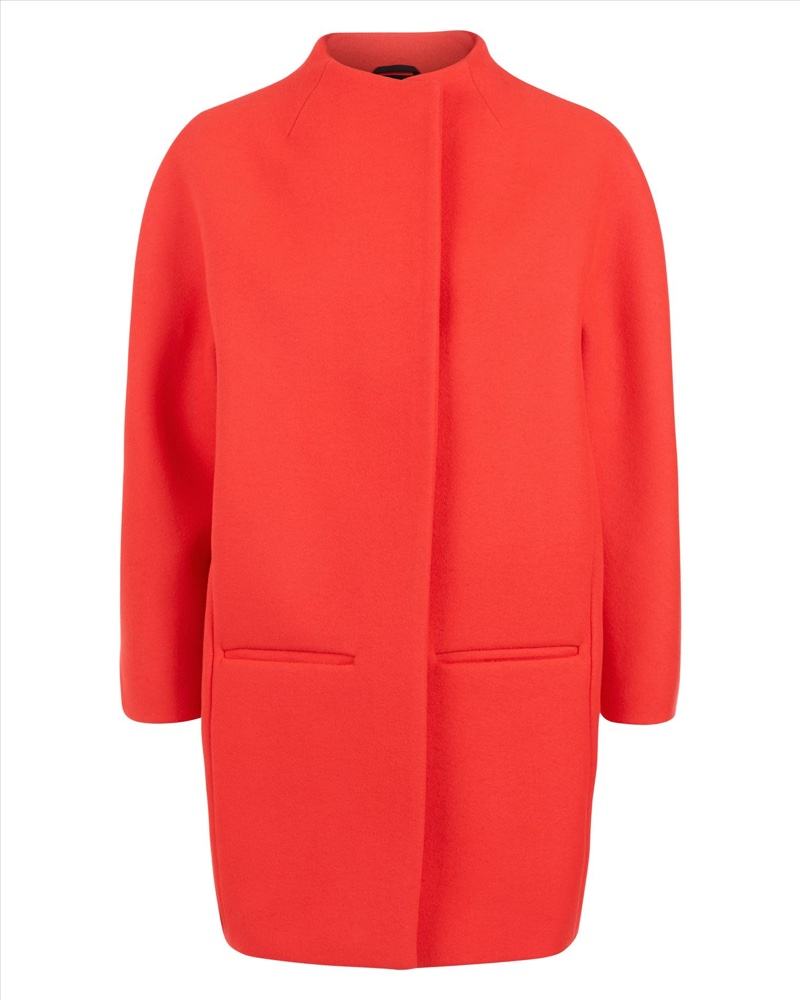 Jaeger Wool Bright Pink Cocoon Coat