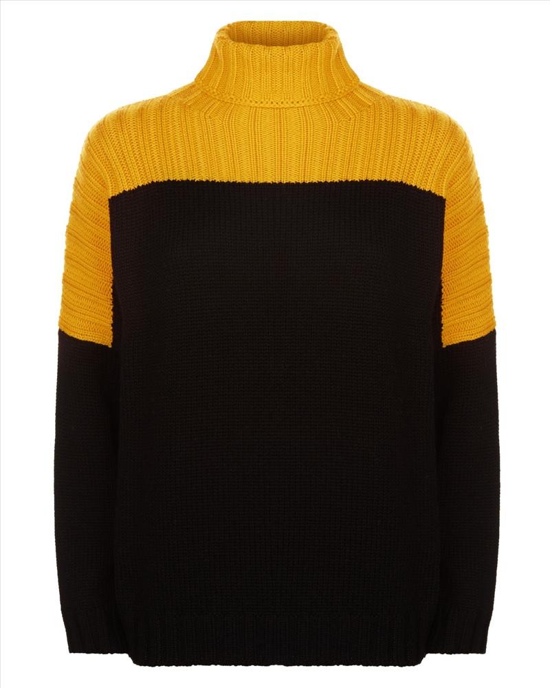 Jaeger Wool Color Block Sweater