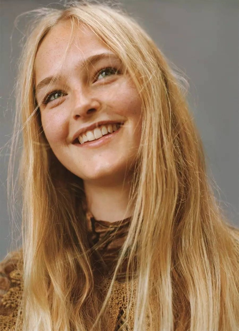 Getting her closeup, Jean Campbell wears her blonde hair in straight locks