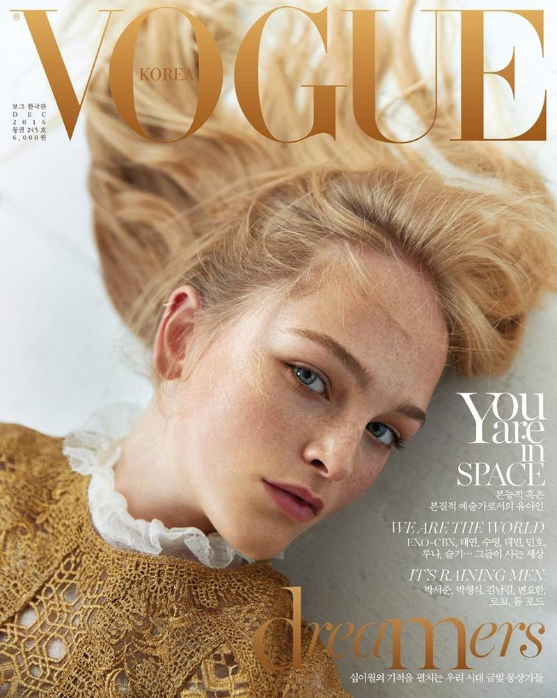 Jean Campbell on Vogue Korea December 2016 Cover