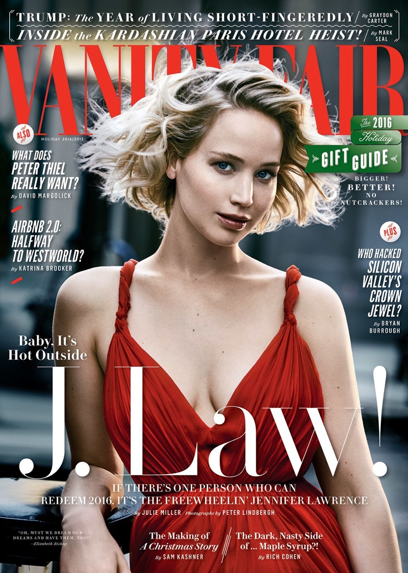 Jennifer Lawrence on Vanity Fair Holiday 2016 Cover