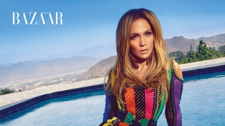 Jennifer Lopez Rocks Giuseppe Zanotti Collaboration in Harper's Bazaar