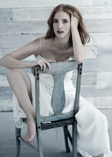 Jessica Chastain Poses in Chic Styles for C Magazine