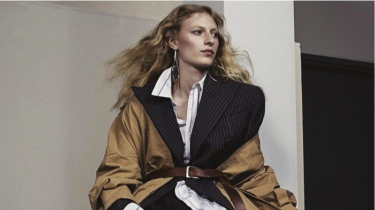 Julia Nobis Suits Up in Menswear Styles for Vogue Australia