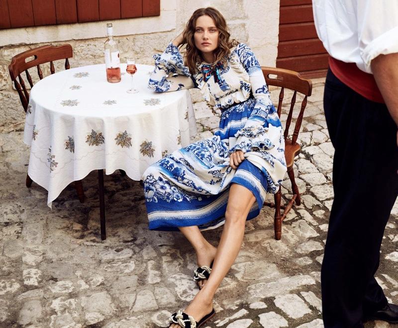 Karmen Pedaru is Ready for Resort Season in Harper's Bazaar Australia
