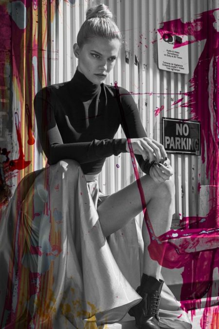 Kasia Struss Poses in Eclectic Looks for The Fashionable Lampoon