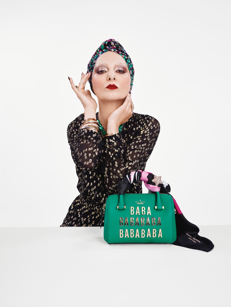 Catherine Baba stars in Kate Spade's Holiday 2016 campaign