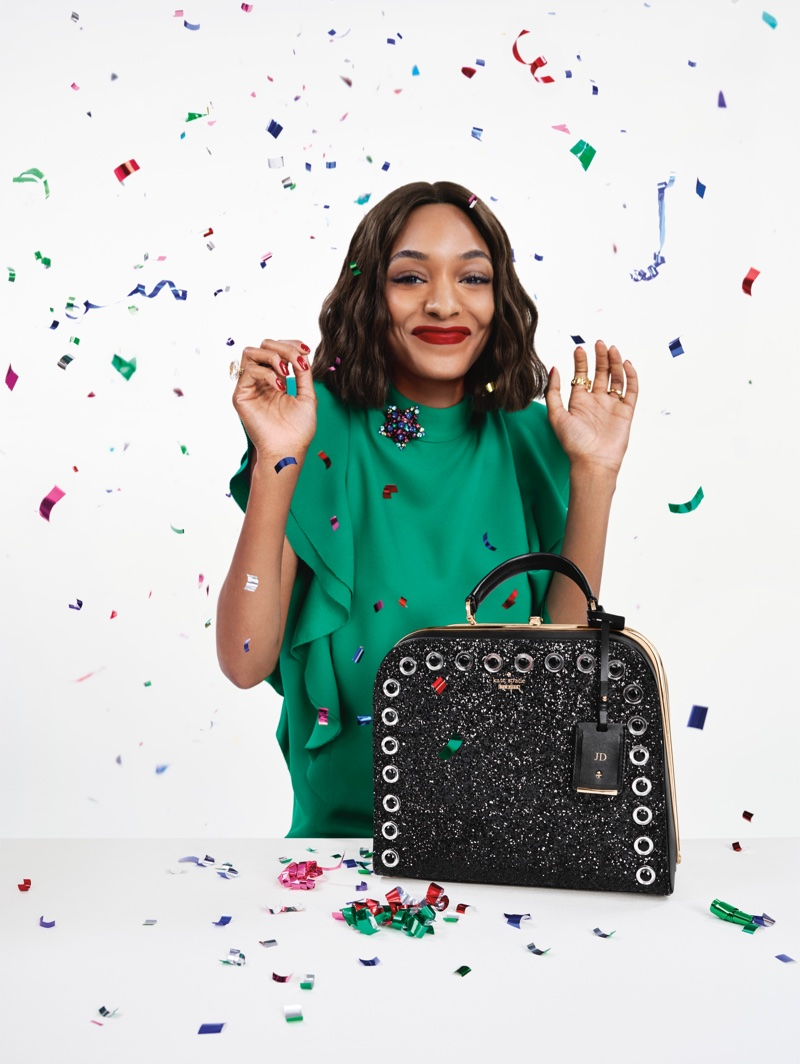 Jourdan Dunn stars in Kate Spade's Holiday 2016 campaign