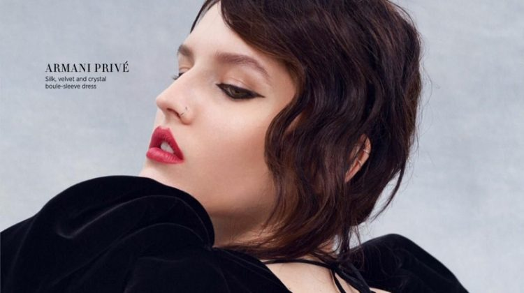 Katlin Aas Models Elegant Haute Couture Looks for Harper's Bazaar Singapore