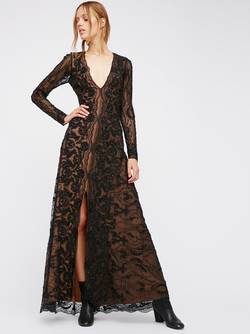FP Limited Edition Keenan's Mesh Maxi Gown