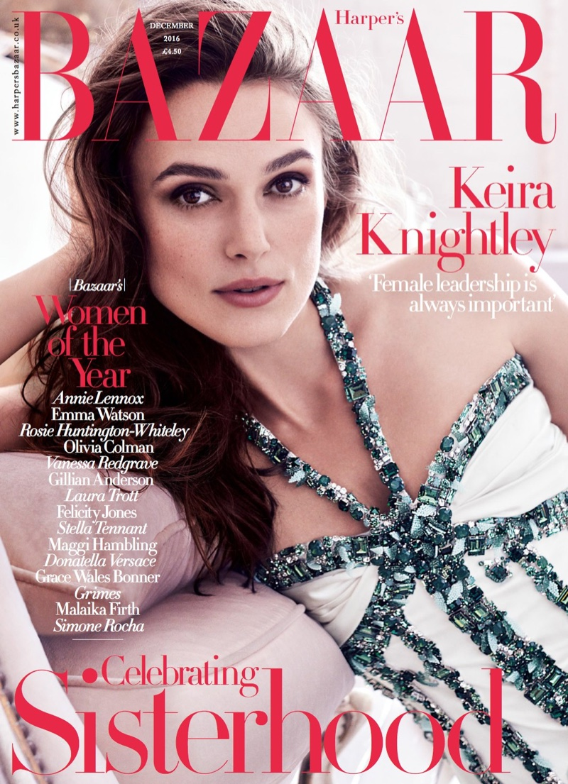 Keira Knightley on Harper's Bazaar UK December 2016 Cover