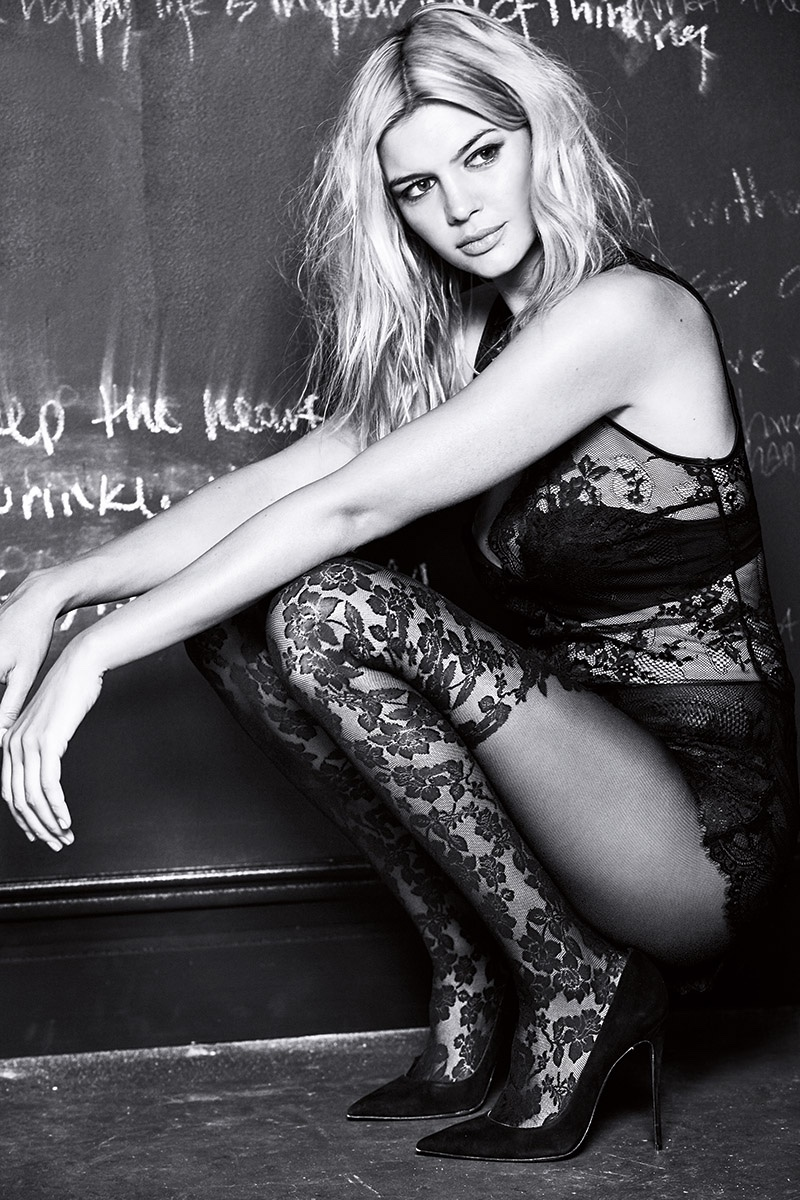 Kelly Rohrbach Models Sexy Tights for Calzedonia