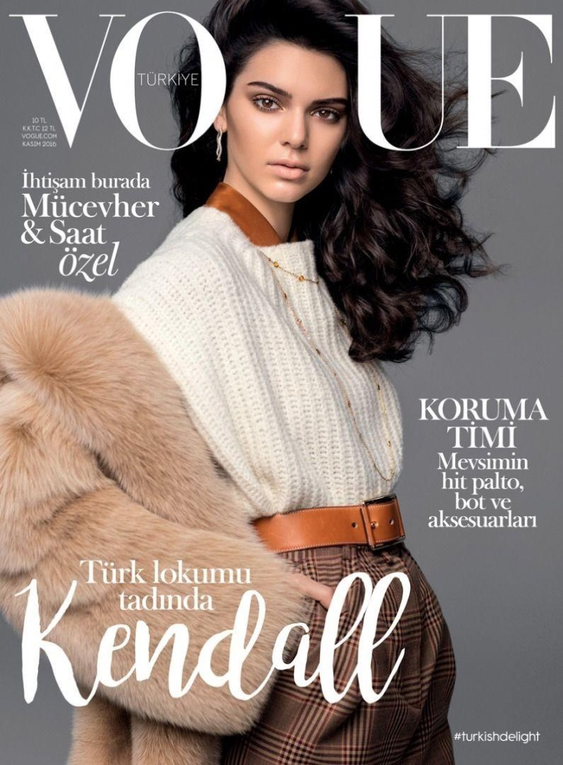 Kendall Jenner on Vogue Turkey November 2016 Cover