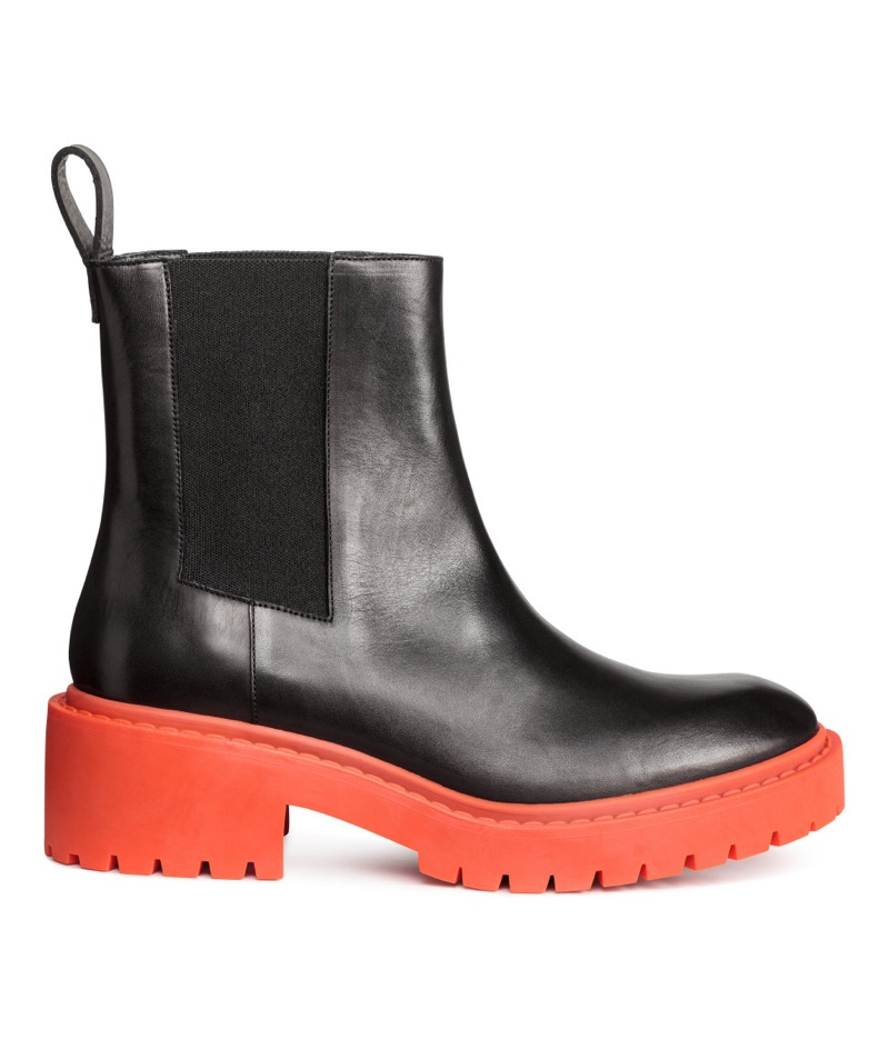 Kenzo for H&M Leather Chelsea Boots