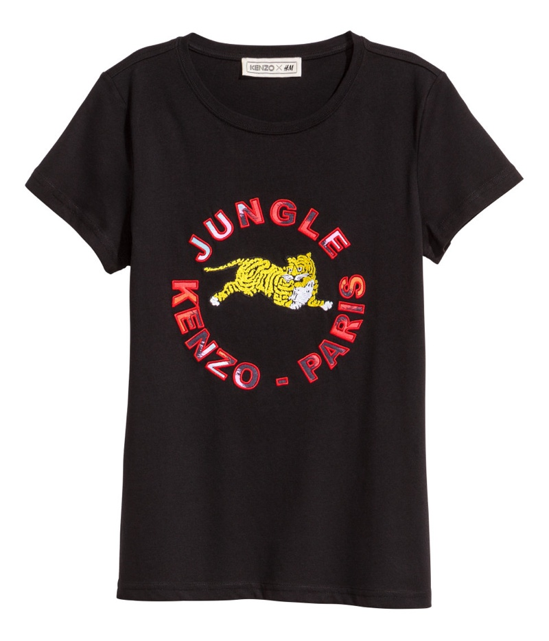 Kenzo for H&M T-Shirt with Appliques