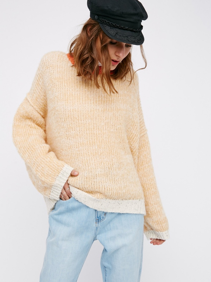 Free People Lightning Strikes Pullover Sweater