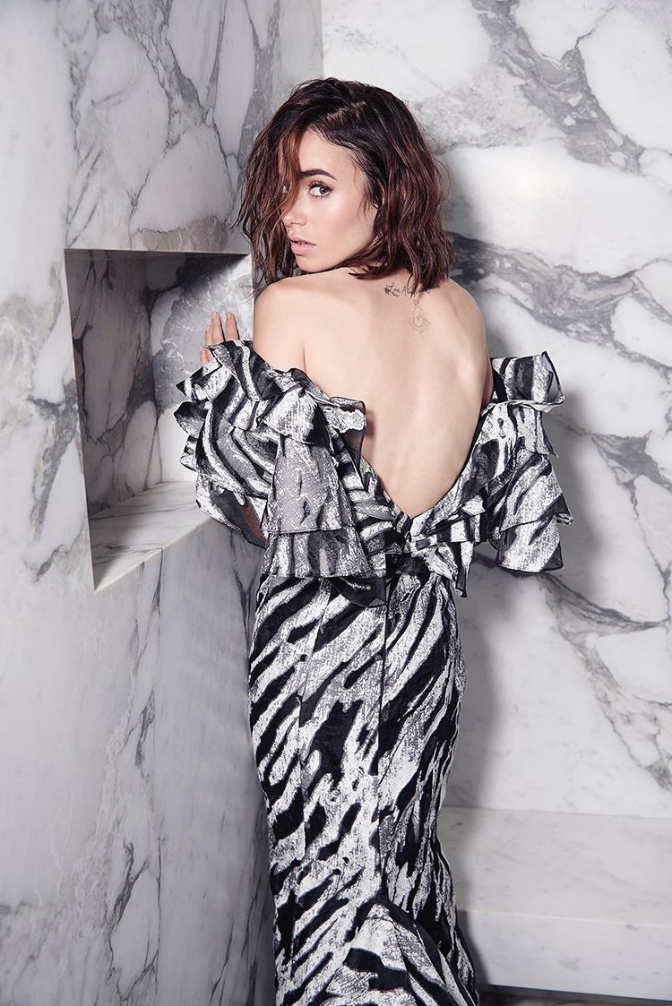 Lily Collins Poses At The Beach For Malibu Magazine