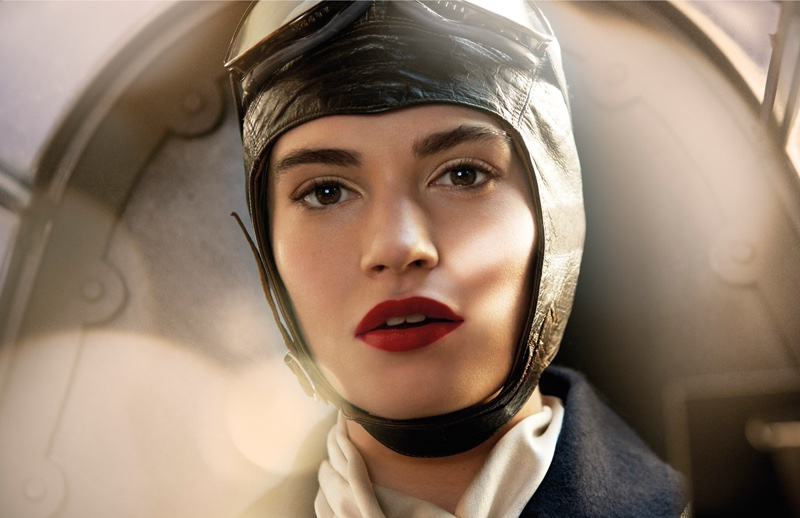 Lily James as Betty Dawson in Burberry's holiday film