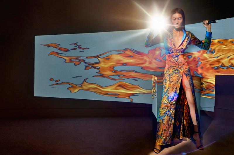 Liu Wen stars in La Perla's spring-summer 2017 campaign